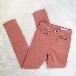 Rag and Bone Pink High Waisted Corduroy Pants